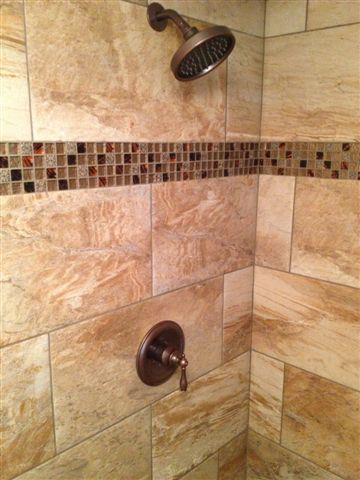 how to build a stand up shower with tile