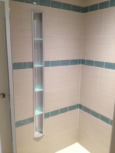 Clearwater Beach Florida Condo Tile Shower Locker
