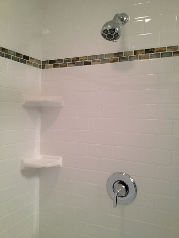 White 3 215 6 Subway Shower In The South Tampa Florida