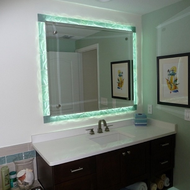 Creative Glass Shower Enclosure Amp Mirrors  Contemporary  Bathroom  Tampa