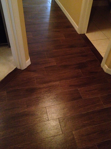 6 24 walnut plank tile installation wesley chapel florida ceramictec updates. Black Bedroom Furniture Sets. Home Design Ideas