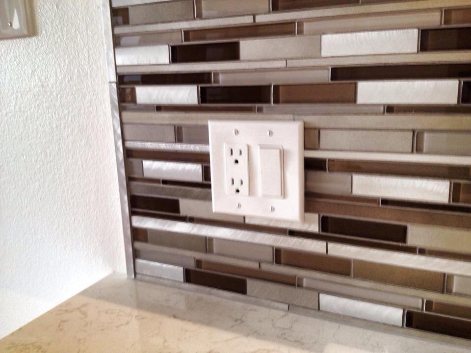 metal glass tile backsplash installation st pete florida