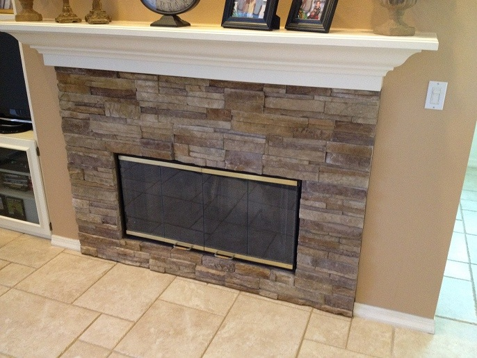 Palm Harbor Florida Stacked Stone Fireplace Ceramictec Updates