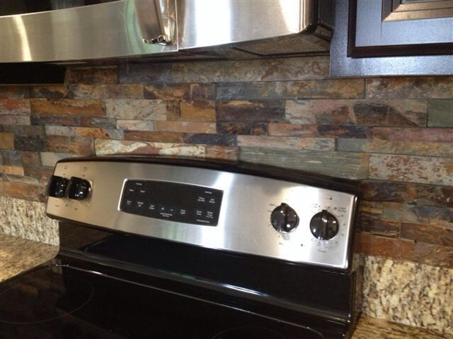 brandon florida stacked slate kitchen backsplash