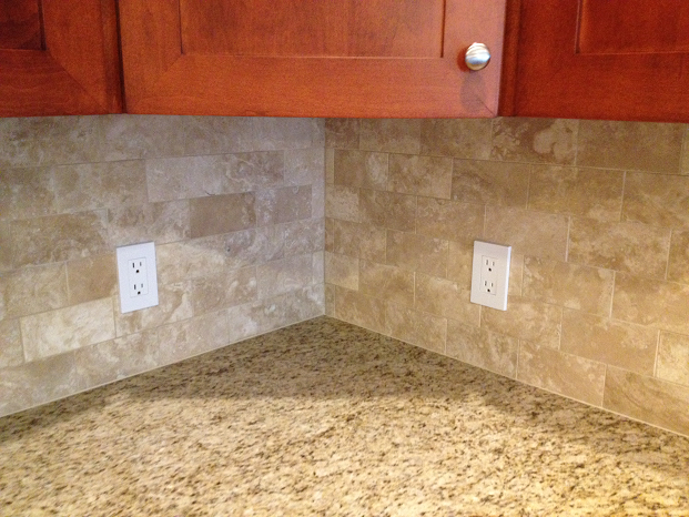 Travertine Subway Tile Backsplash Installation Tampa