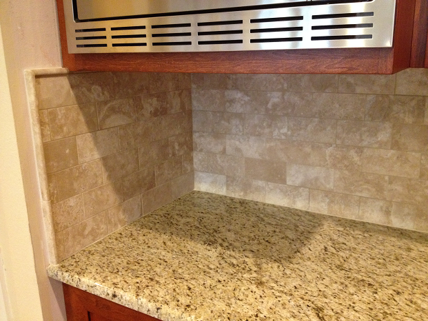 Travertine Subway Tile Backsplash Installation Tampa Florida Ceramictec Updates