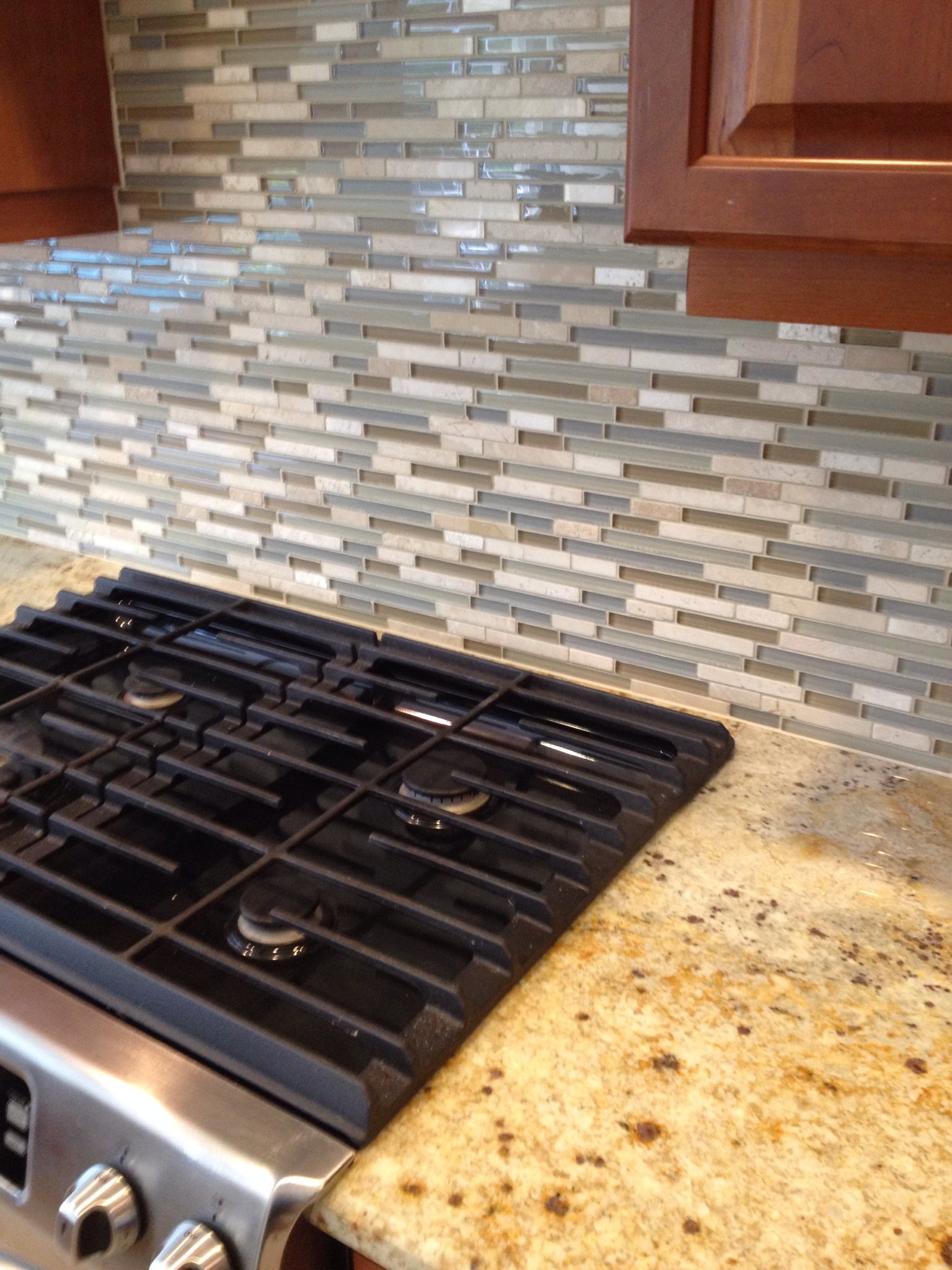 Glass Amp Travertine Tile Kitchen Backsplash Bradenton