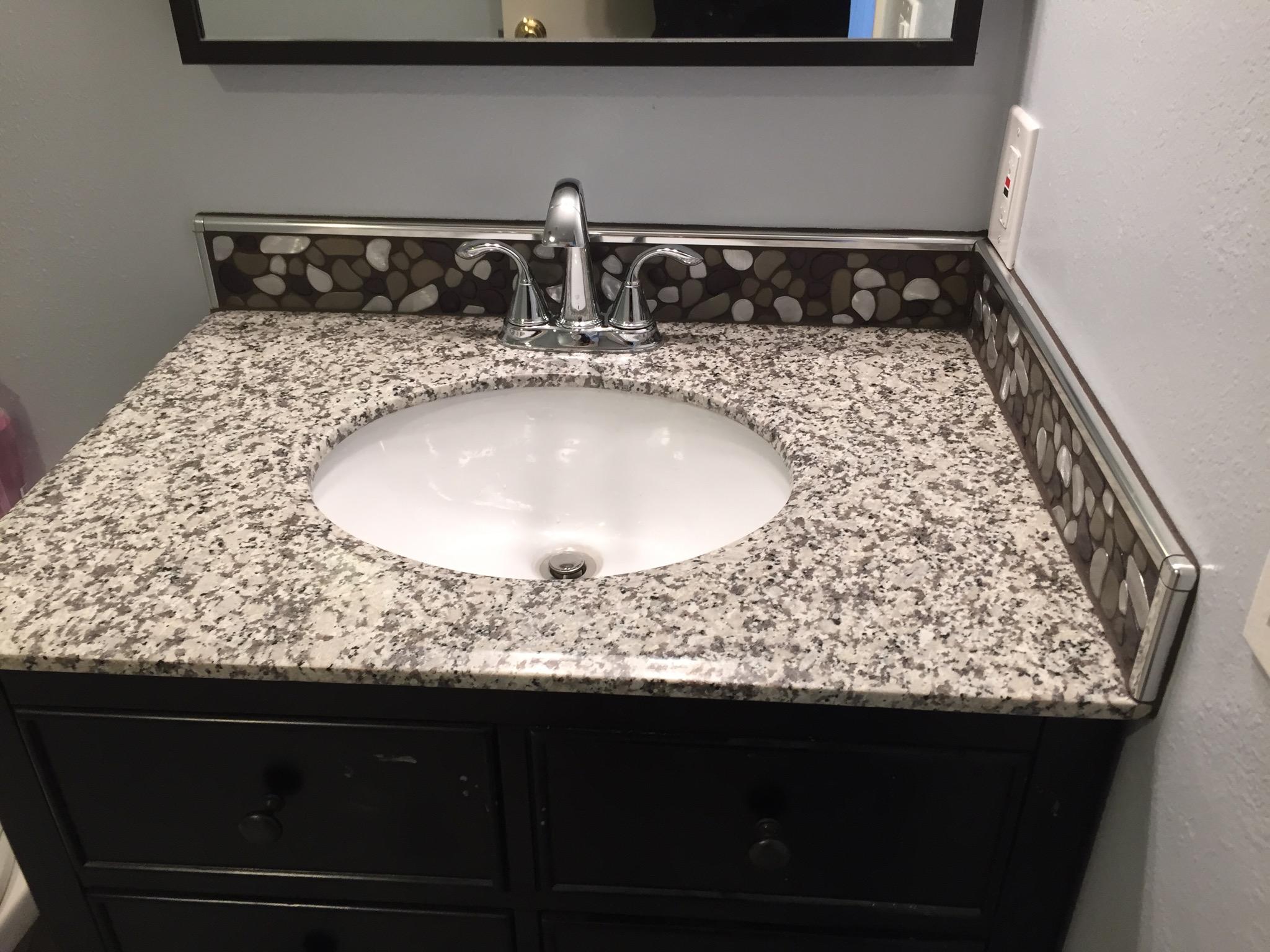 Aluminum Flat Pebble Bathroom Backsplash Clearwater