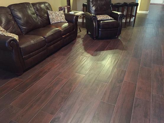 Tampa Florida 8 215 36 Magnolia Cherry Plank Tile Installation